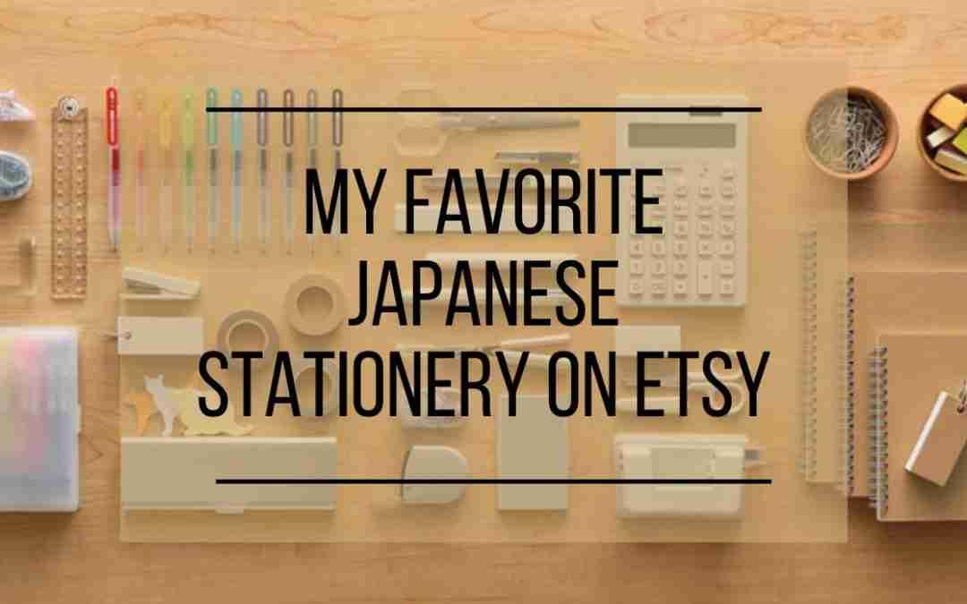 Japanese Stationery on Etsy