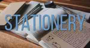 Stationery- A Wandering Scribbler